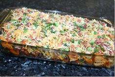 loaded baked potato chicken casserole - Click image to find more popular food & drink Pinterest pins
