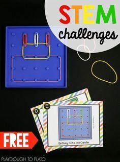STEM challenge- geoboards! Fun hands-on activity for kid!