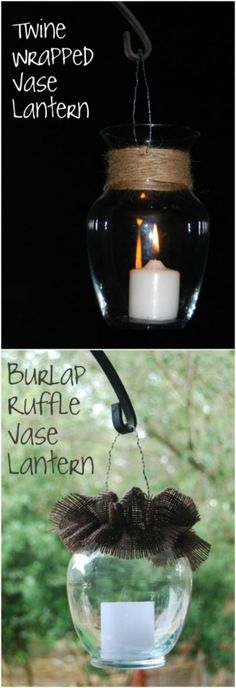 13 DIY Lanterns To Light Up Your Outdoor Space : Home Decor Projects DIY Laterne Hauptdekorprojekte 9 Cool Diy Projects, Projects To Try, Vintage Home Decor, Diy Home Decor, Hobby Lobby Christmas, Garden Lanterns, Beautiful Home Designs, Diy Décoration, Easy Crafts
