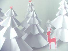 #Alberelli di #Natale di #carta, semplici da realizzare e...conservare!