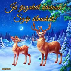 Animated Reindeer, Good Night, Good Morning, Christmas Blessings, Merry Christmas, Share Pictures, Animated Gifs, Sendai, Rudolph The Red