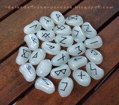 Either for decoration, use or just because you like it, a set of runes is always something creative to try out. This is one of the futhark sets I've made some years ago.