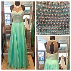 Beaded A-line Long Prom Dress,2017 Wedding Party Dress