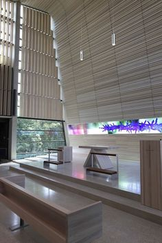 A very nice new church in Oslo suburb, not many pictures on the net yet, but I have been to see it. It is very very nice, with a lot of very elegant details. The glass art work on this pic, is maybe my least favorite part.