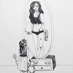 Image via We Heart It #art #bad #black&white #destroyed #drawing #L #sad #teen #teenagers #wallpapers