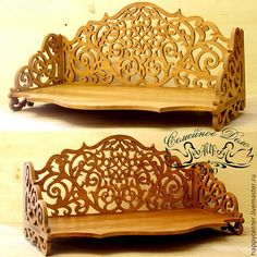 """Shelf made of wood """"Florentia"""" was created in the technique of slotted wood carving drawings on the basis of the recovered 1884 - 1885 period. Handmade Wood Furniture, Diy Pallet Furniture, Dremel Carving, Wood Carving, David Wood, Backdrop Frame, Photo Frame Design, Laser Cutter Projects, Metal Working Tools"""