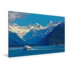 M/V Fairweather auf dem Weg nach Juneau (Premium Textil-Leinwand, Bild auf Keilrahmen) - CALVENDO