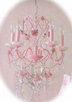 Shabby chic rose chandelier