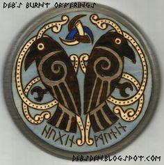 Huginn Muninn Ravens Wood Plaque by debsburntofferings on Etsy