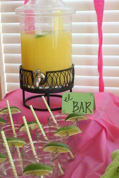 Maragrita Bar - Fiesta Themed Shower