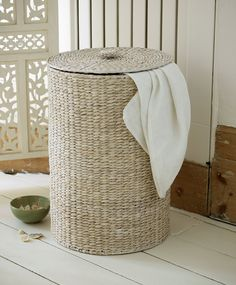 be6b6e7d8d2 lombok Water Hyacinth Round Laundry Basket Bathroom Cleaning