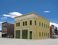 Walthers Cornerstone HO Scale Building/Structure Kit Two-Bay Fire Station #WalthersCornerstone
