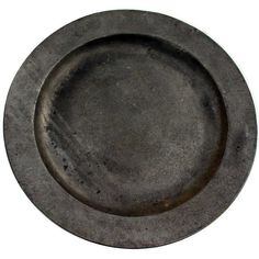 Large Matthys Pewter Plate (32,785 INR) ❤ liked on Polyvore featuring home and kitchen & dining
