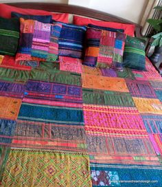 Vintage Hmong Batik & Embroidery Patchwork by SiameseDreamDesign