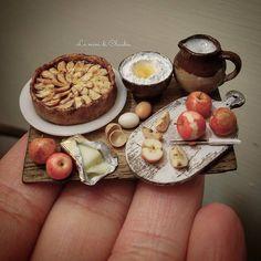 #miniature #food #minifood #apple #tart #flour #sugar #eggs #apples #milk