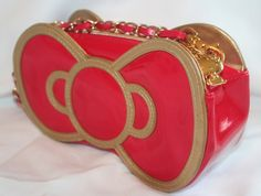 Hello Kitty 30th Anniversary Red Embossed Purse