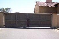 Wood Double Driveway Gate