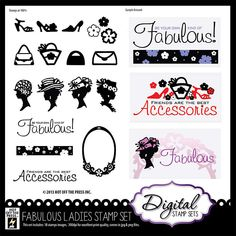Digital Scrapbooking - Digital Stamps at PaperWishes.com