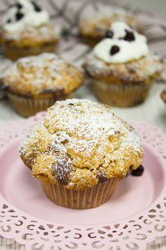 Blaubeer-Crumble-Muffins