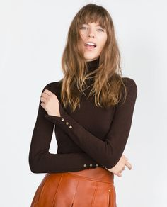 Image 3 of POLO NECK SWEATER from Zara