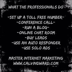 @CalvinDWard: Here are a few tips that network marketers should do!