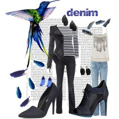 denim by trilobitka on Polyvore featuring H&M, 7 For All Mankind, Dorothy Perkins, Burberry, ANT TREE and NLY Accessories