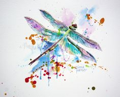 Hey, I found this really awesome Etsy listing at https://www.etsy.com/listing/197153163/dragonfly-print-of-original-watercolor