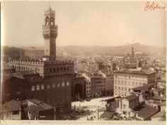 Флоренция - Firenze - panorama paratiale col Palazzo Vecchio