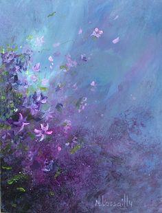 Création artistique. Tableaux acrylique de fleurs