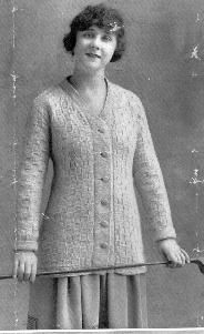 antique knitting pattern 1917