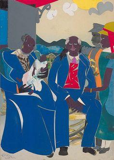 """Romare Bearden """"Family"""", 1986 (USA, Outsider Art, 20th cent.)"""