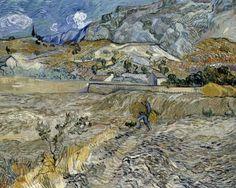 Vincent Van Gogh - Landscape at Saint-Rémy (Enclosed Field with Peasant), 1889.
