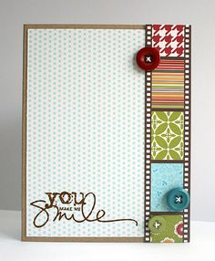 clean and simple.#Repin By:Pinterest++ for iPad#.  Great way to use up scraps.