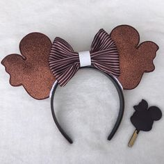 Mickey Mouse inspired ice cream ears. Made from foam, these are light weight, and your neck will thank you after a long day at the parks! Choose if you would like a bow or not. If you would like a different color bow, pm me for options! Please allow 5-7 business days before item