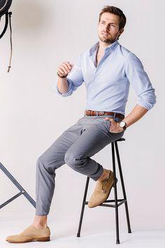 Slim Cut Shirt & Trousers with Monkstraps