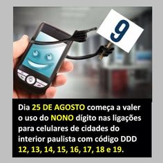 """Blog Wasser Adv: Fique atento: dia 25/08/2013 começa o """"nono dígito"""" SP"""