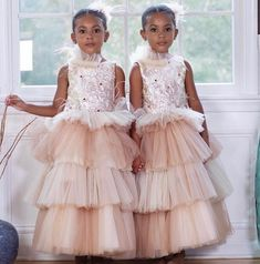 Image may contain: 2 people, people standing Twin Baby Girls, Black Baby Girls, Black Kids, Black Babies, Baby Baby, Black Girl Fashion, Teen Fashion, Fashion Show, Model Outfits