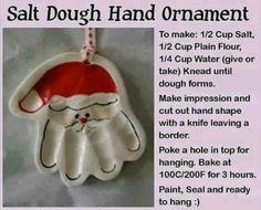 Santa hand ornaments