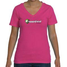 Hoppified Women's Missy Fit Main Logo V-Neck Tee