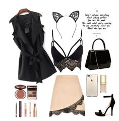 """""""Untitled #32"""" by riiiriii ❤ liked on Polyvore featuring River Island, Club L, Wild Diva, Charlotte Tilbury, Fleur du Mal, WithChic and Dolce&Gabbana"""