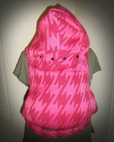 Custom Pink Houndstooth SSC with pixie hood by #ehmiodesigns
