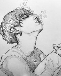Keep A Sketchbook And Have Fun - Drawing On Demand Fanart Bts, Jungkook Fanart, Bts Jungkook, Kpop Drawings, Art Drawings Sketches, Arte Indie, Fan Art, Drawing Lessons, Art Inspo