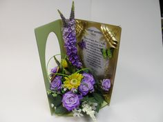 A Beautiful handcrafted non perishable greetings card for any occassion with your personal message for only £16.99 + £3.50 postage and packing.You choose the message and the colours of the flowers and we will create you a one of design you will want to cherish.