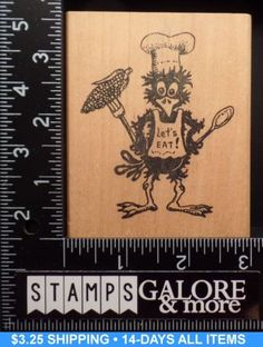 PEDDLERS-PACK-USED-RUBBER-STAMPS-THANKSGIVING-TURKEY-CHIEF-HAT-LETS-EAT-RARE