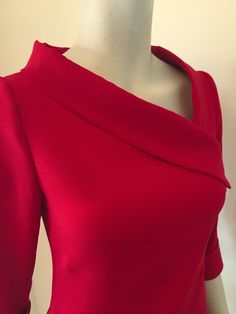 Detail of red dress