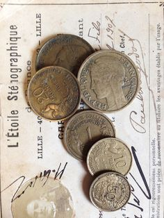 Vintage French Flea Market Coins Set 1 by OscarNaylor on Etsy, $11.00