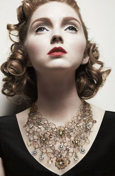 Red Lips.  Lily Cole