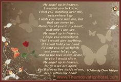 The Motivation Hotel: My Angel Up In Heaven