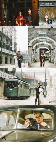 Theme // Shanghai 1930s' Pre-Wedding  Location // Shanghai, China  Photography // Chester Kher Creations, International Wedding & Portraits Photography based in Kuala Lumpur & Shanghai.