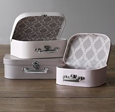 Patterned Paper Nesting Suitcases